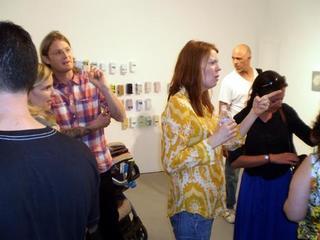 , Artists, Curt LeMieux (l), Amy Green (next to Curt) and Kristina Faragher (r)