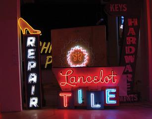 Lancelot Tile & other signs,