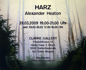 Invitation for HARZ,Alex Heaton