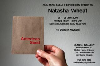Invitation for American Seed, Natasha Wheat