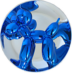 Blue Balloon Dog Sculpture,Jeff Koons