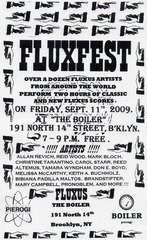 Poster For Event 2009, FLUXUS
