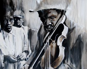 Blind Street Musician, Aubrey Rhodes