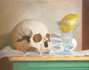 Skull with Lemon, Edgar Soberón