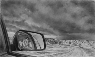 Side View Mirror, Badlands, Sharon Allicotti