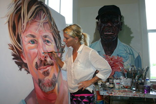 "Letty painting ""Richard"", Letty Nowak"