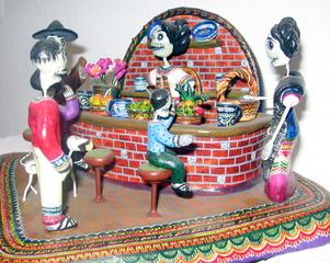 Calavera Bar Scene, Alfonso Castillo