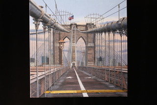 Walking the Brooklyn Bridge, Merrill French