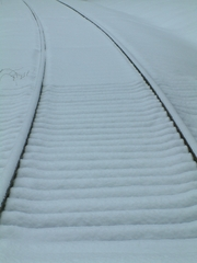 Snow Tracks on Train Trestle, Harry L. Colley II