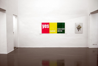 Yes, I Believe Every Word You Say, installation view, Andrea Büttner