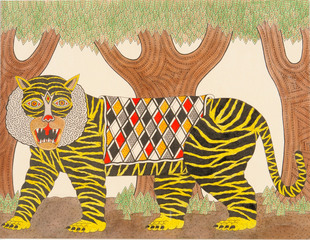 Untitled (Tiger in Forest),Matt Leines