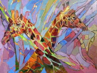 Two Giraffes, Radu Tesaro