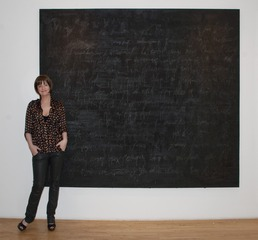 Francine Turk in front of painting Cher Paris La Nuit.jpg	Francine Turk in front of painting Cher Paris La Nuit, Francine Turk