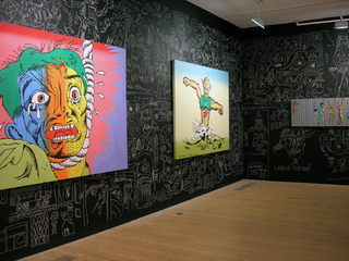 Pictures from the Psychedelic Swamp, Gallery installation view, Gary Panter