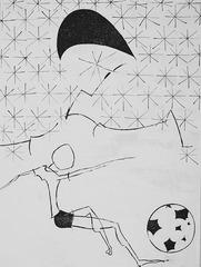 Boy with his soccer ball, Vahe Bedrosian