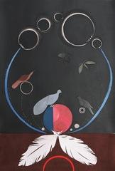 Blue, Pink Circle Landing, Lena Wolff