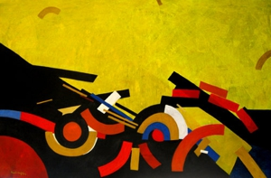 Composition_in_yellow_acrylic_on_canvas_30x47_inch