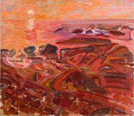 Red Morning, Pigeon Cove, Bernard Chaet