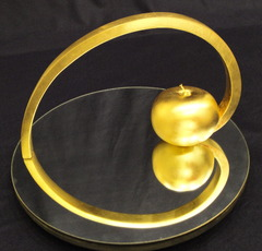 Golden_spiral___cardioid__bonze_with_24ct_gold_leaf