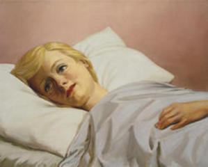 Girl in Bed , John Currin