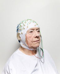 Woman with Electrode Cap#1,