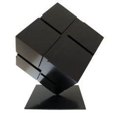 , Tony Rosenthal, 2007, Cube, Black Enamel on Aluminum Sculpture