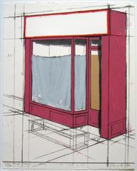 Pink Store Front Project (Schellmann 105), 1980, Christo