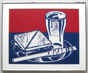 Sandwich and Soda (Corlett 35), 1964, Roy Lichtenstein
