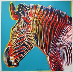 Grevy\'s Zebra (Endangered Species Portfolio) (F&S II. 300)1983 , Andy Warhol