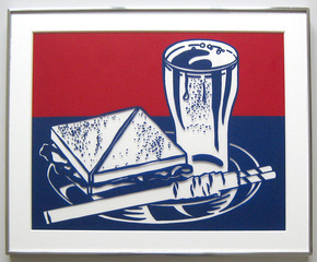 Sandwich and Soda (Corlett 35), 1964, Roy Lichtenstein