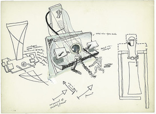 Study for viewing mechanism, Frederick Kiesler