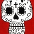 Red-white-calavera