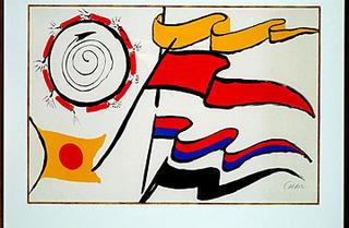 Red Flag, from our Colección Privada, Alexander Calder