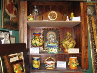 Pinturas de la Escuela Cuzqueña, ceramics from Guanajuato, México,