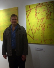 John in front of Paintings,John C. Kuchera