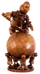 Farmer on Globe, Tom Otterness