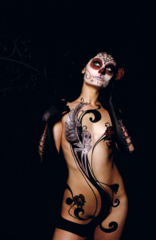 body paint inspired by Pooch and Sylvia Ji, model: Camilla, Georgette Pressler