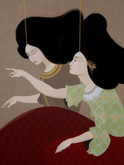 Entertaining (detail), Hayv Kahraman