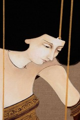 Folding Sheet (detail),Hayv Kahraman
