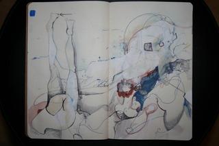 Random sketchbook pages, Erika Fortner