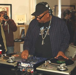 Djing for Brush Fire group show, LC