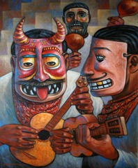 The Mask and the guitar,Carlos Orduña Barrera