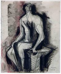 Seated Figure On Bench, Henry Moore