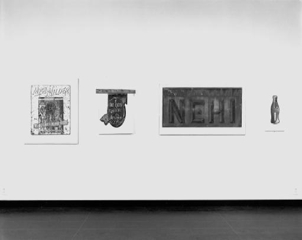 Exhibition of found signs, Yale University Gallery , Walker Evans