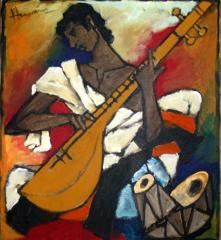 Musician Series, M.F Hussain