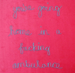 You\'re going home in a fucking ambulence, Jessica Voorsanger