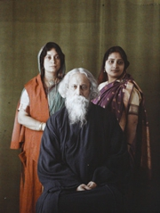 Rabindranath Tagore, with his family,