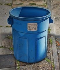 Blue Round Trashcan, Justin Allen