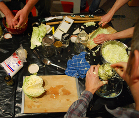 Sauerkraut making workshop,