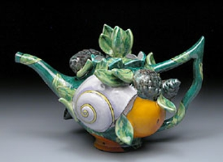 Green Teapot #8119 , Farraday Newsome
